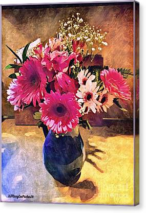 Brithday Wish Bouquet Canvas Print by MaryLee Parker