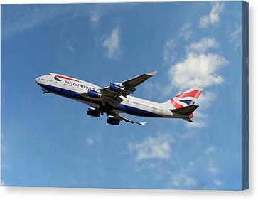 747 Canvas Print - British Airways Boeing 747-400 by Nichola Denny