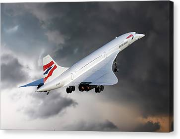 British Airways Concorde Canvas Print