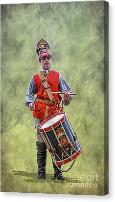 British Army Drummer Boy Canvas Print