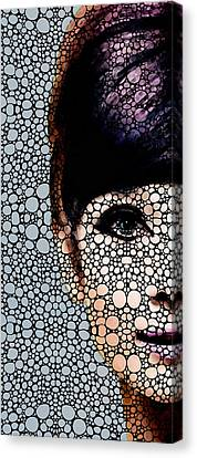 British Beauty - Audrey Hepburn Tribute Canvas Print by Sharon Cummings