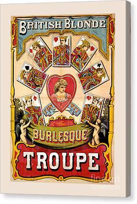 British Blonde Burlesque Troupe Canvas Print