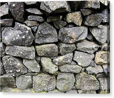 British Dry Stone Wall, Photo By Mary Bassett Canvas Print