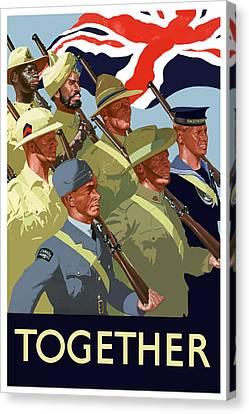 British Empire Soldiers Together Canvas Print
