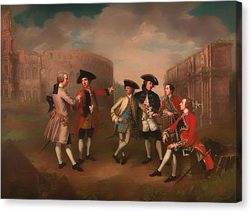 British Gentlemen In Rome Canvas Print by Mountain Dreams
