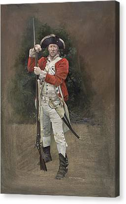 American Independance Canvas Print - British Infantryman C.1777 by Chris Collingwood