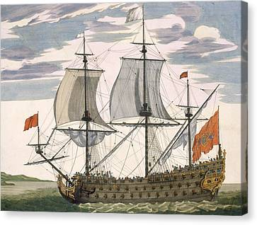 British Navy Canvas Print by Pierre Mortier