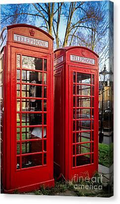 British Phonebooths Canvas Print by Inge Johnsson