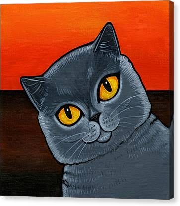 Fat Canvas Print - British Shorthair by Leanne Wilkes
