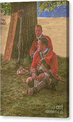 British Soldiers In Camp Canvas Print by Randy Steele