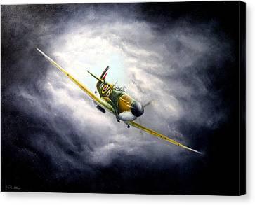 British Spitfire Mk. 1a Canvas Print