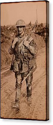 British Tommy World War One  1917 Canvas Print by Daniel Hagerman