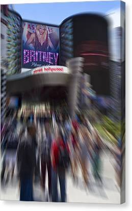 Britney Canvas Print by Ricky Barnard