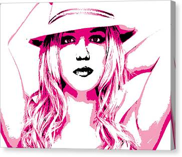 Britney Spears Canvas Print by Brad Scott