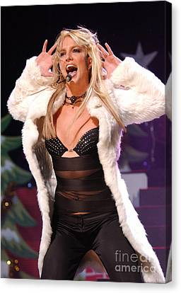 Britney Spears Canvas Print by Fitzroy Barrett