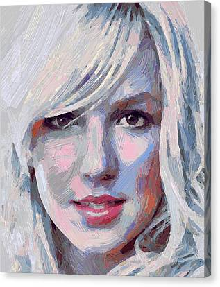 Britney Spears Portrait Canvas Print by Yury Malkov