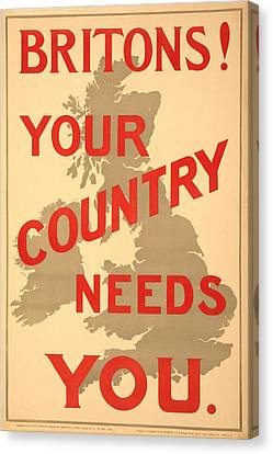 Britons Needed Canvas Print by Richard Reeve