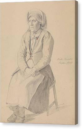 Britta Peersdotter Reisaer, Ullensvang Canvas Print by Adolph Tidemand