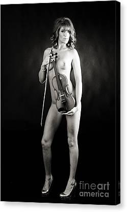 Boudoir Canvas Print - Brittnie Kae Nude Fine Art Print Sexy Photograph 5386.01 by Kendree Miller