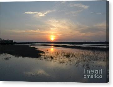 Canvas Print featuring the photograph Broad Creek Sunset by Carol  Bradley