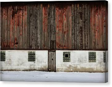 Broad Side Of A Barn Canvas Print by Julie Hamilton