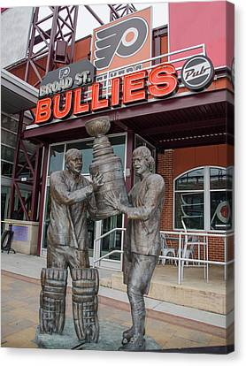 Broad Street Bullies Pub - Clarke And Parant Canvas Print by Bill Cannon