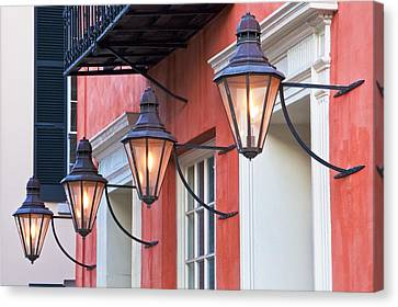 Broad Street Lantern - Charleston Sc  Canvas Print by Drew Castelhano