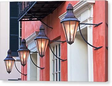 Broad Street Lantern - Charleston Sc  Canvas Print