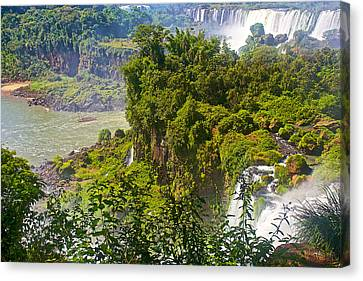 Broad View Of Iguazu Falls National Park-argentina Canvas Print by Ruth Hager