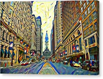 Broadstreet Philadelphia Watercolor Canvas Print