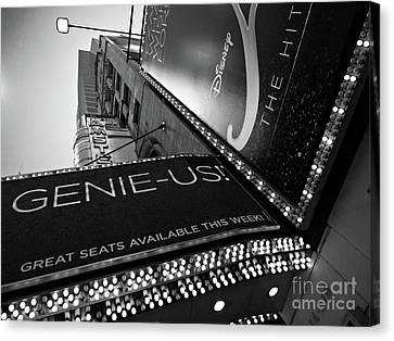 Broadway  -27868-bw Canvas Print by John Bald