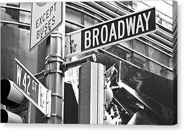 Broadway And 42nd Canvas Print by Sharla Gentile