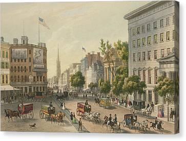 Broadway Canvas Print by Augustus Kollner