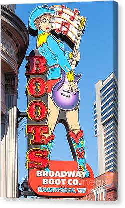 Broadway Boot Company Sign I Canvas Print