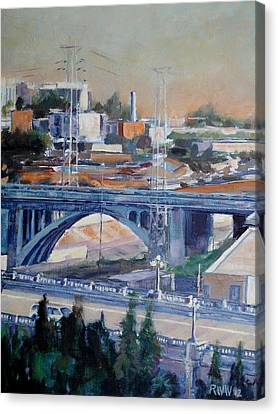 Broadway Bridge Canvas Print