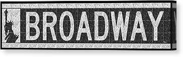 Liberty Avenue Canvas Print - Broadway Deco Swing Street Sign  by Cecely Bloom