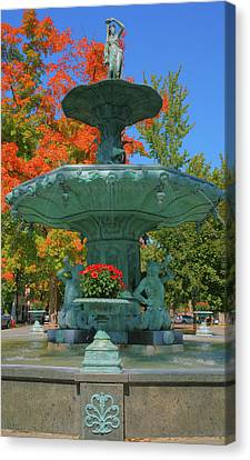 Broadway Fountain II Canvas Print by Steven Ainsworth