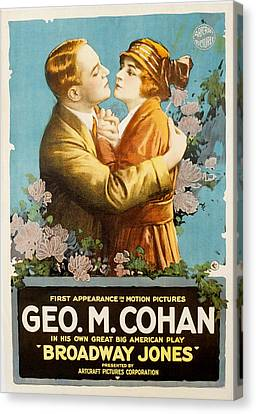 Broadway Jones, George M. Cohan Canvas Print by Everett