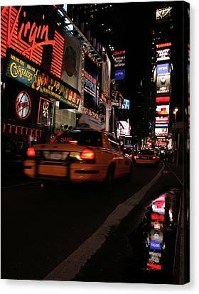 Broadway Lights Canvas Print by Karol Livote