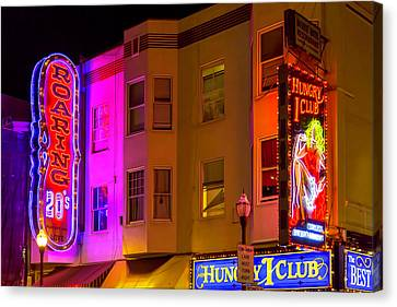 Broadway Neon Canvas Print by Garry Gay
