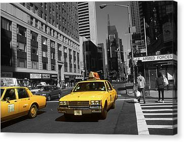 New York Broadway - Yellow Taxi Cabs Canvas Print