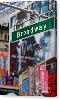 Broadway Times Square New York Canvas Print by Amy Cicconi