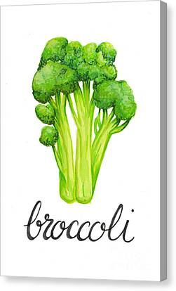 Canvas Print featuring the painting Broccoli by Cindy Garber Iverson