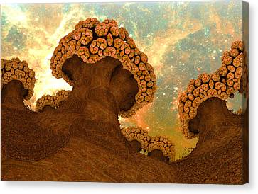 Broccoli Planet In Fall Canvas Print by Dr-Pen