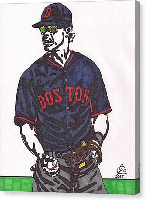 Boston Red Sox Canvas Print - Brock Holt 1 by Jeremiah Colley
