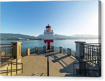 Brockton Point Lighthouse At Stanley Park Canvas Print by David Gn
