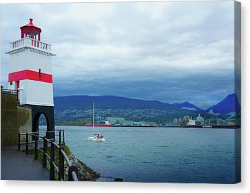 North Vancouver Canvas Print - Brockton Point Lighthouse In Stanley Park by Art Spectrum
