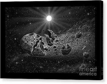 Astronomical Canvas Print - Broken Comet by Murphy Elliott