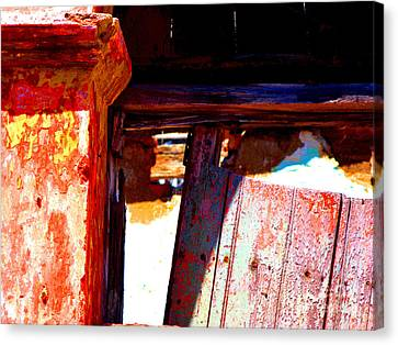 Broken Door By Michael Fitzpatrick Canvas Print by Mexicolors Art Photography