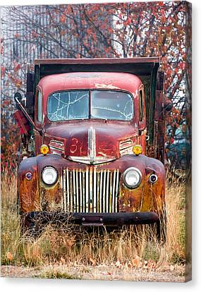 Broken Down Old Abandoned Truck Canvas Print by Todd Klassy